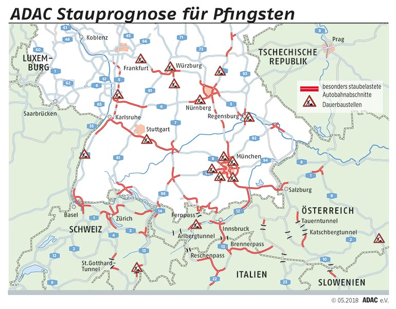 Stauprognose Pfingsten